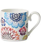 Villeroy & Boch Dinnerware Bone Porcelain Anmut Bloom After Dinner Cup