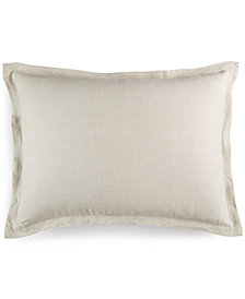 CLOSEOUT! Hotel Collection Linen Natural Standard Sham