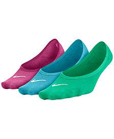 Nike Women's 3-Pk. Dri-FIT Half-Cushion No-Show Socks