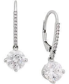 Arabella Swarovski Cubic Zirconia Earrings in 14k White Gold