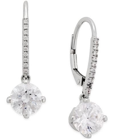 Arabella Swarovski Cubic Zirconia Earrings in 14k White Gold