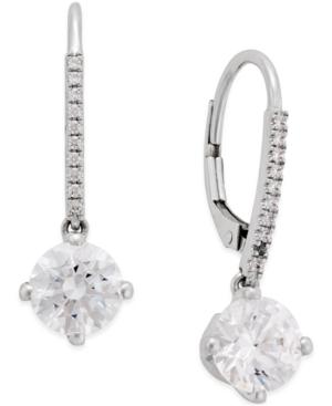 Cubic Cubic Zirconia Earrings in 14k White Gold