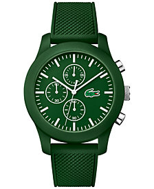 Lacoste Unisex Green Silicone Strap Watch 44mm 2010822
