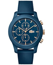 Unisex Chronograph 12.12 Blue Silicone Strap Watch 44mm 2010827