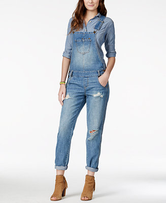 American Rag Ripped Denim Marlowe Wash Overalls Created