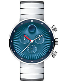 Movado Men's Swiss Chronograph Edge Stainless Steel Bracelet Watch 42mm 3680010