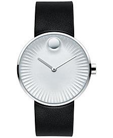 Movado Men's Swiss Edge Black Rubber Strap Watch 40mm 3680001