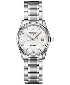 Longines Women's Swiss Automatic The Longines Master Collection Stainless Steel Bracelet Watch 29mm L22574876
