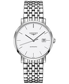 Men's Swiss Automatic The Longines Elegant Collection Stainless Steel Bracelet Watch 39mm L49104126