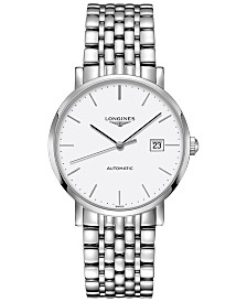 Longines Men's Swiss Automatic The Longines Elegant Collection Stainless Steel Bracelet Watch 39mm L49104126