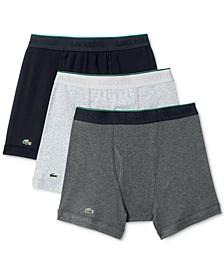 Men's Cotton Boxer Briefs 3-Pack