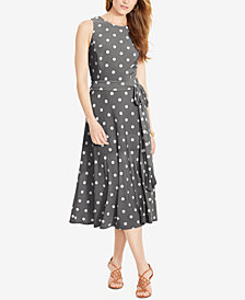 Lauren Ralph Lauren Print Crew-neck Dress, Regular & Petite Sizes