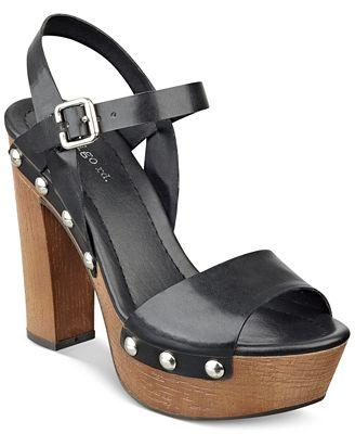 Indigo Rd Kiana Wooden Platform Sandals Sandals Shoes