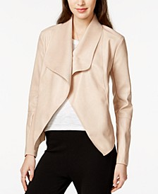 Flyaway Faux-Leather Jacket, Created for Macy's