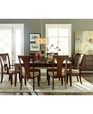 Metropolitan Contemporary 9-Piece (Dining Table, 6 Side Chairs & 2 ...