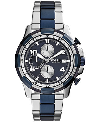 Fossil Men's Chronograph Dean Two-Tone Stainless Steel