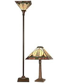 Dale Tiffany Stanton Mission Lamp Set