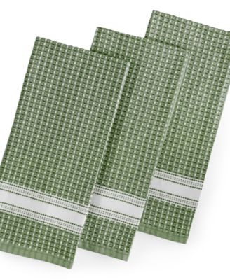 CLOSEOUT! 3 Pc. Waffle Weave Kitchen Towels, Created For Macyu0027s