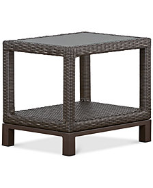 CLOSEOUT! Katalina Wicker Outdoor End Table, Created for Macy's