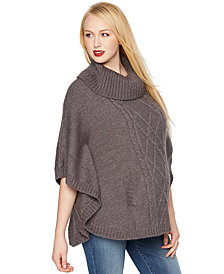 A Pea in the Pod Maternity Cowl-Neck Poncho