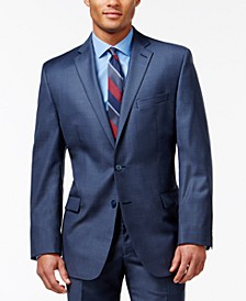 Blue Big and Tall Modern Fit Jacket