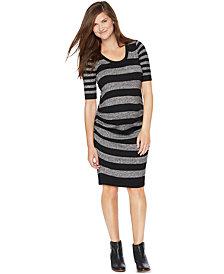 Motherhood Maternity Striped Sweater Dress
