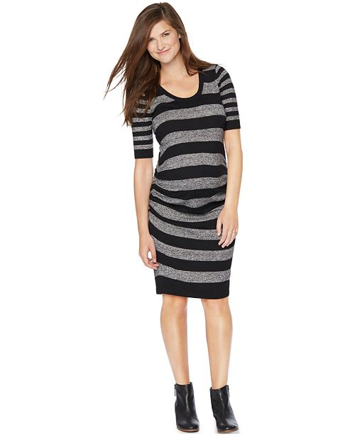 26dd2630f1d Motherhood Maternity Striped Sweater Dress  Motherhood Maternity Striped Sweater  Dress ...
