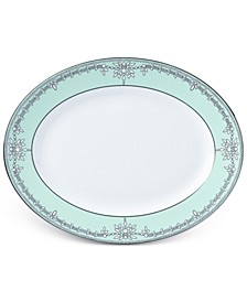 Empire Pearl Turquoise Bone China Oval Platter