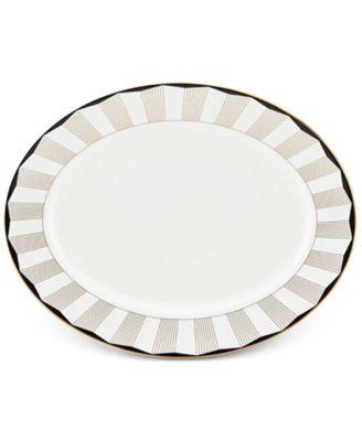 Brian Gluckstein by Audrey  Bone China Oval Platter