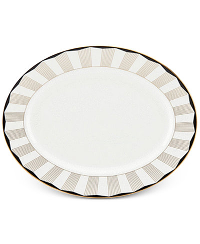 Brian Gluckstein by Lenox Audrey Bone China Oval Platter