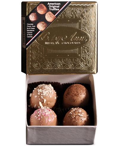 Betsy Ann Chocolates 4-piece American Original Truffles
