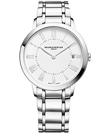 Baume & Mercier Women's Swiss Classima Stainless Steel Bracelet Watch 37mm M0A10261