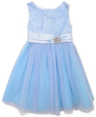 Rare Editions Blue Cinderella Party Dress Toddler