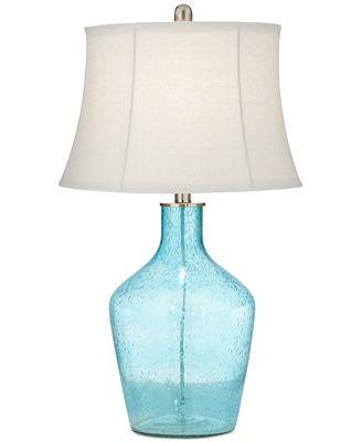 Pacific coast sea blue glass table lamp created for macys