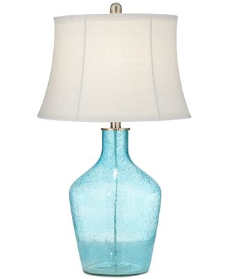 Pacific Coast Sea Blue Glass Table Lamp Created For Macy S