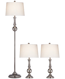 Pacific Coast Set of 3: Floor Lamp & 2 Table Lamps