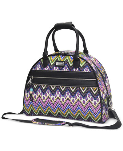 CLOSEOUT! 60% OFF Steve Madden Patchwork Dome Satchel, Only at