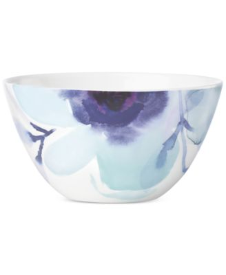 Indigo Watercolor Floral Porcelain All-Purpose Bowl, Created for Macy's