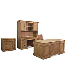 CLOSEOUT! Sherborne Home Office Furniture, 5-Pc. Piece Set (Executive Desk, Credenza Desk, Hutch, File & Chair)