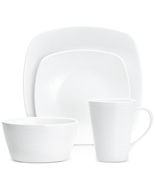 Noritake Swirl  4-Pc. Square Place Setting