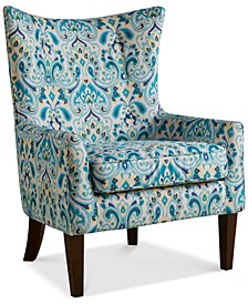 Brie Printed Fabric Accent Chair