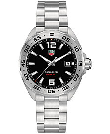 TAG Heuer Men's Formula 1 Stainless Steel Bracelet Watch 41mm WAZ1112.BA0875