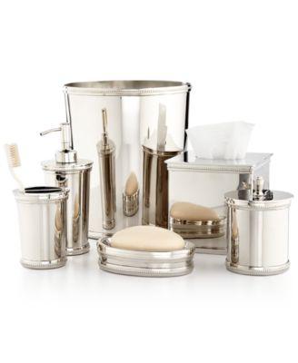 martha stewart collection beaded metal bath accessories created for macyu0027s