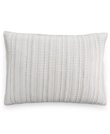 CLOSEOUT! Hotel Collection Linen Fog Quilted Standard Sham, Created for Macy's