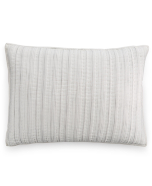 Hotel Collection Linen Fog Quilted Standard Sham Created for Macys Bedding