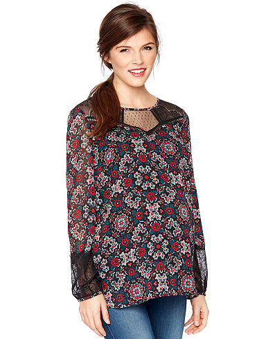Wendy Bellissimo Maternity Printed Blouse