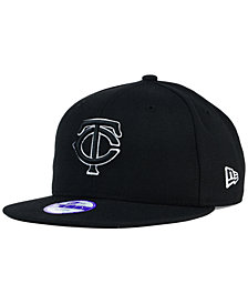 New Era Kids' Minnesota Twins Black White 9FIFTY Snapback Cap
