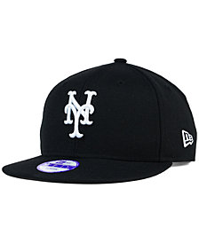 New Era Kids' New York Mets Black White 9FIFTY Snapback Cap