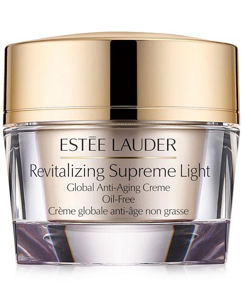 Estee Lauder Revitalizing Supreme Light Global Anti-Aging Creme Oil-Free 1.7 oz.