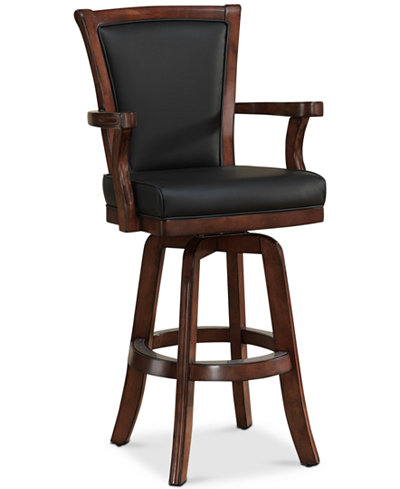 Auburn Bar Height Stool in Suede, Quick Ship